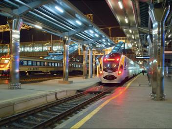 Интерсити на новом Донецком вокзале